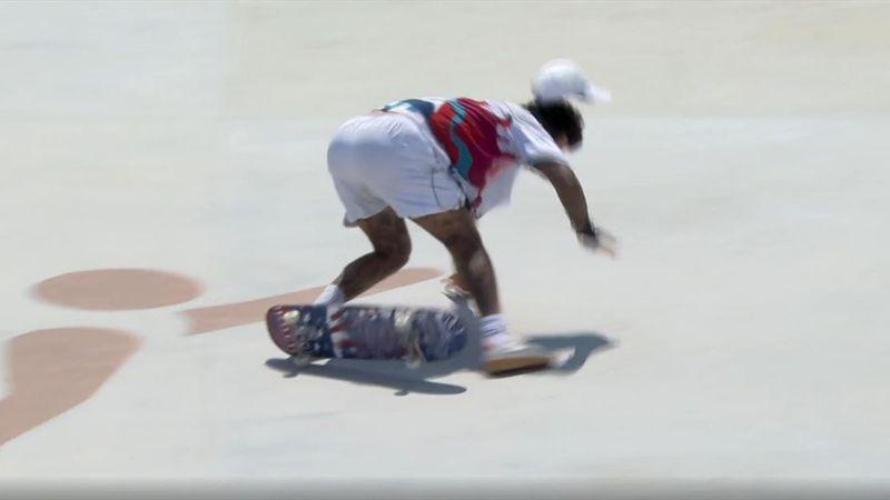 Harter Aufprall: Skateboard-Topfavorit Huston stürzt böse