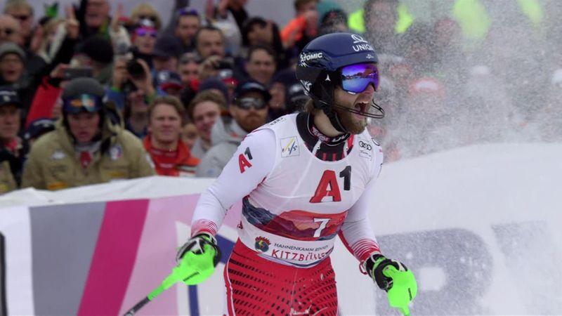 Kitzbühel: men slalom - 2nd run - run Schwarz