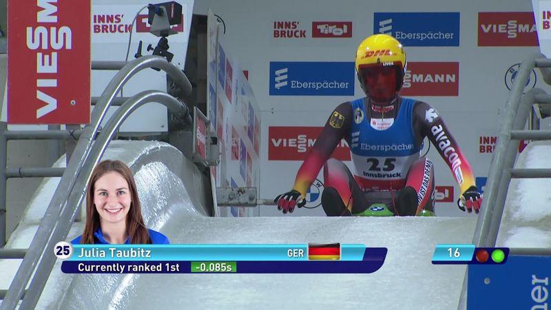 Taubitz lays down big winning run in Innsbruck