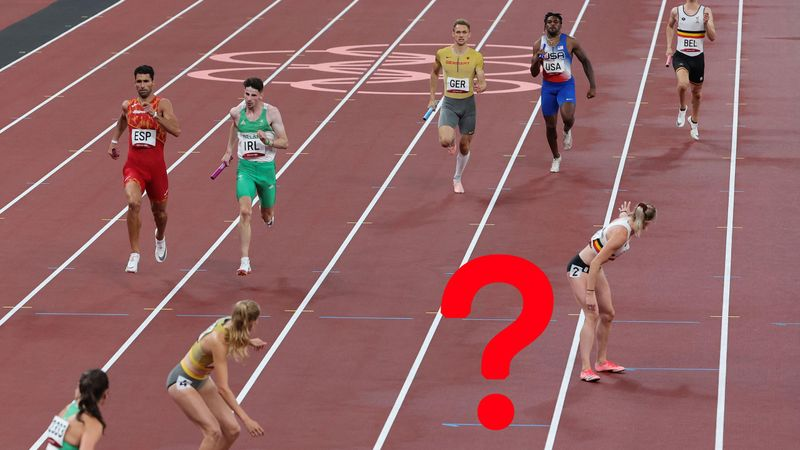 Where is she? Baffling moment USA make huge gaffe in mixed 4x400m relay