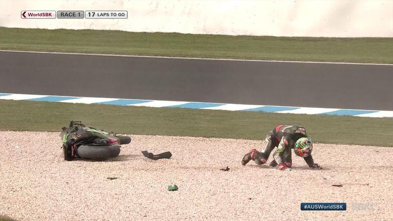WSBK Australië | Jonathan Rea crasht in eerste race van het seizoen