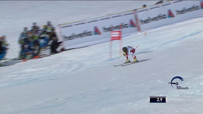 La caída que dejó sin opciones a Lara Gut en St. Moritz