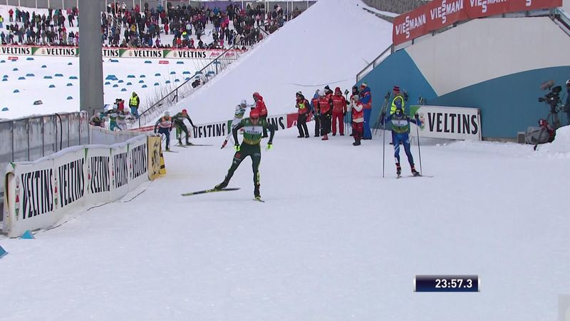 Rydzek sprints to victory in Nordic Combined