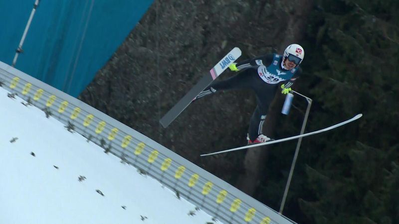 Andreas Stjernen claims ski flying victory in Kulm