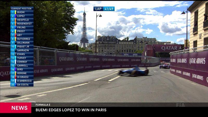 Sebastien Buemi non si ferma: trionfa anche a Parigi