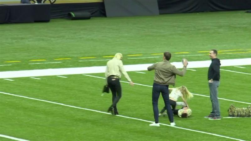 Tom Brady, touchdown pass al figlio di Brees