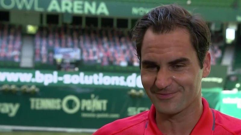 """Federer: """"Sono felice di essere tornato sull'erba"""""""