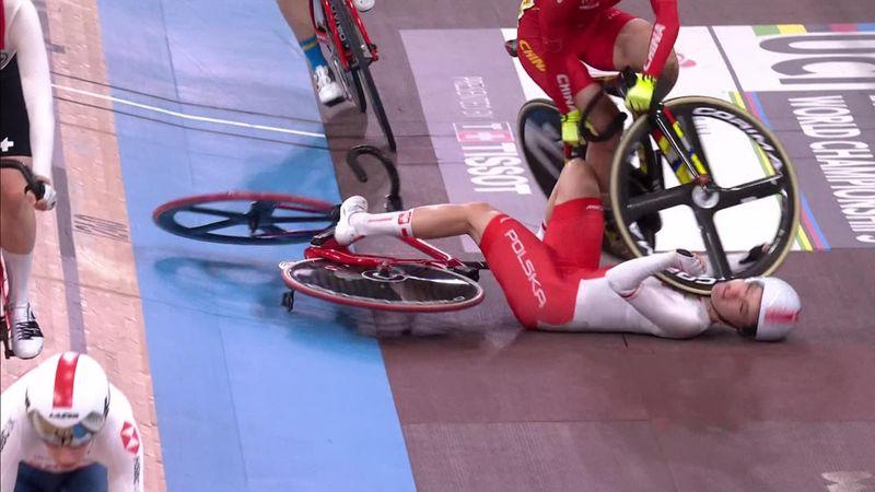 Ciclismo en pista, Mundiales: El escalofriante accidente de Daria Pikulik en el madison