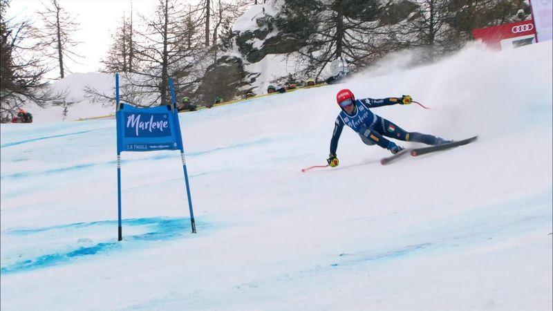 La Thuile:  Federica Brignone's first run