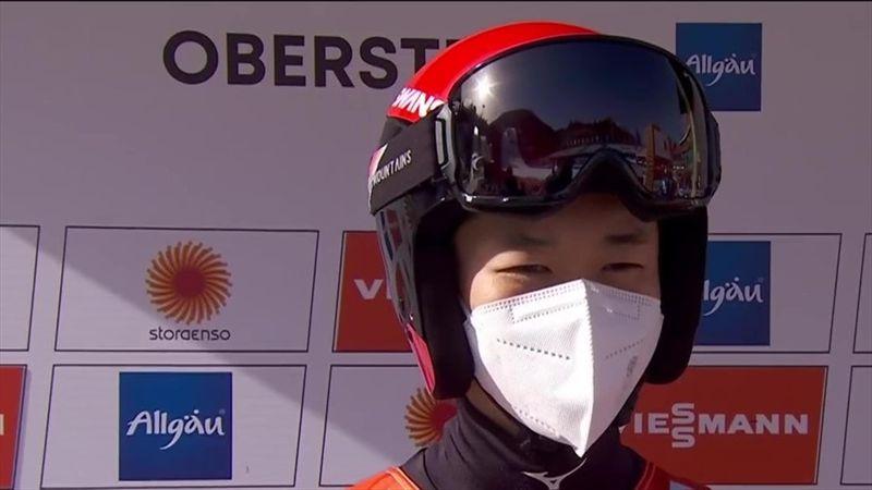 """Good jumping today"": Kurioses Interview mit Sprungsieger Yamamoto"