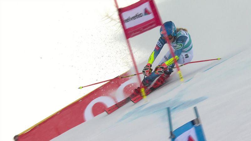 Shiffrin maintient la pression jusqu'au bout : sa 1re manche de slalom géant