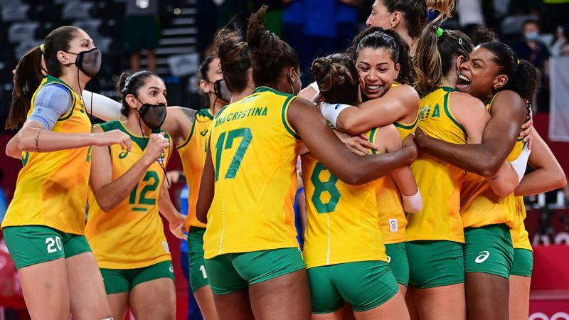 Tokyo 2020 - Brazil vs ROC - Volleyball - Olympic Highlights