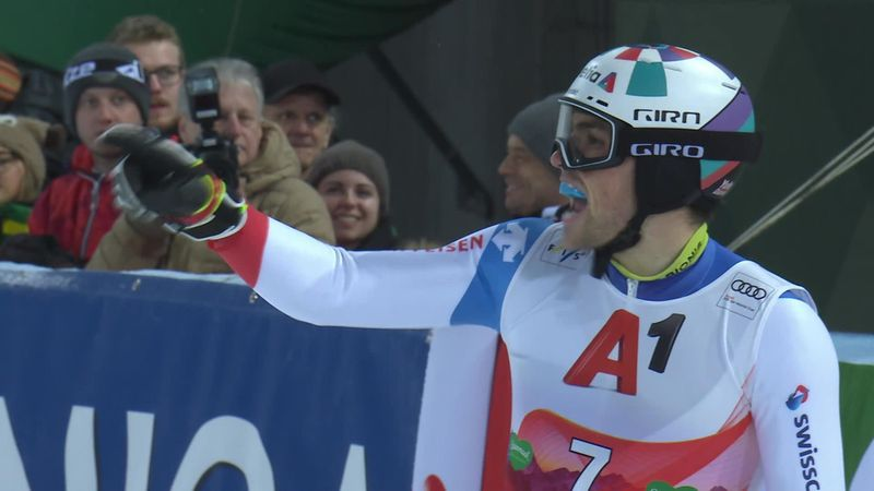 Schladming:  Men's Slalom : Run 2 -Yule