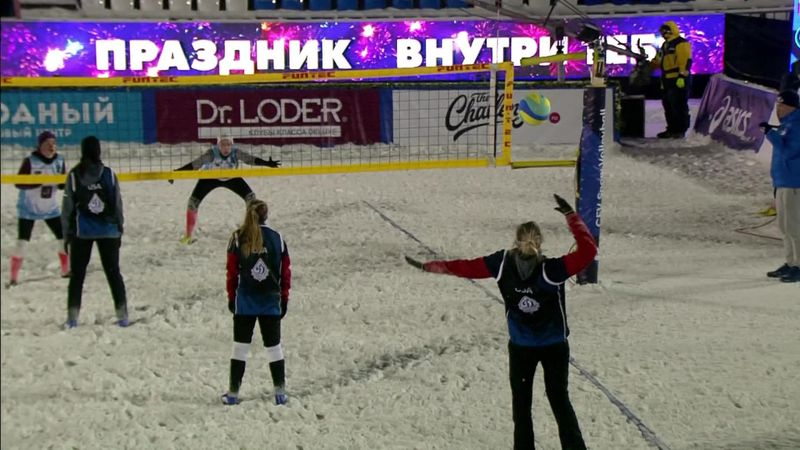 Snow volleybal | Highlights WK-finale Rusland - Verenigde Staten
