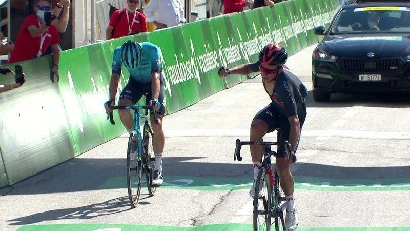 Tour de Suisse: Highlights as Carapaz storms to Stage 5 win