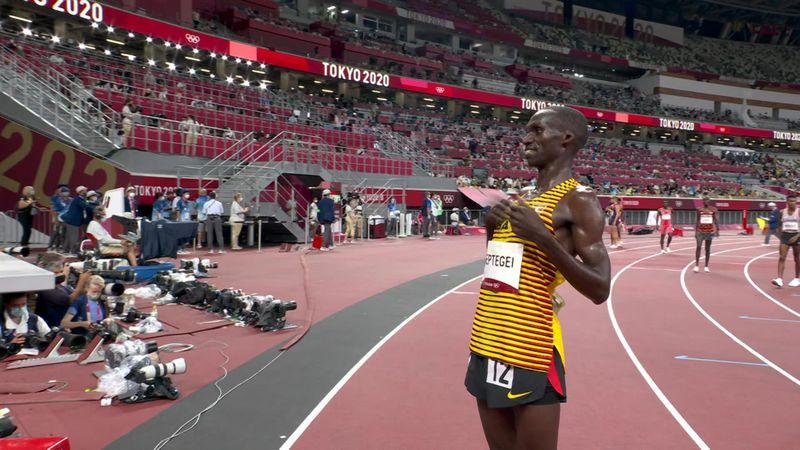 Tokyo 2020: Men's 5000m Final : Gold medal Joshua Cheptegei (Uganda)