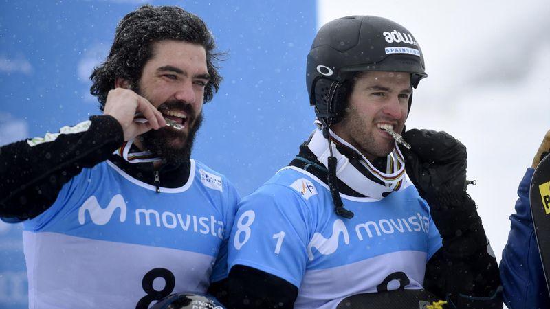 Copa del Mundo de Snowboardcross: Regino y Lucas recuerdan su éxito en Sierra Nevada