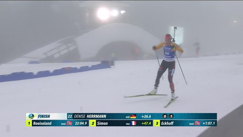 Oberhof:  7.5 km Women - Finish Herrmann