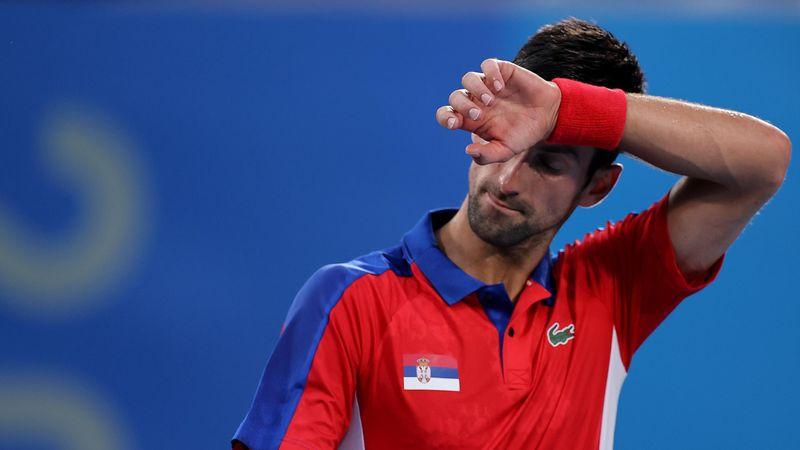 Novak Djokovic, un monument de tristețe, după ce a ratat finala și la dublu mixt