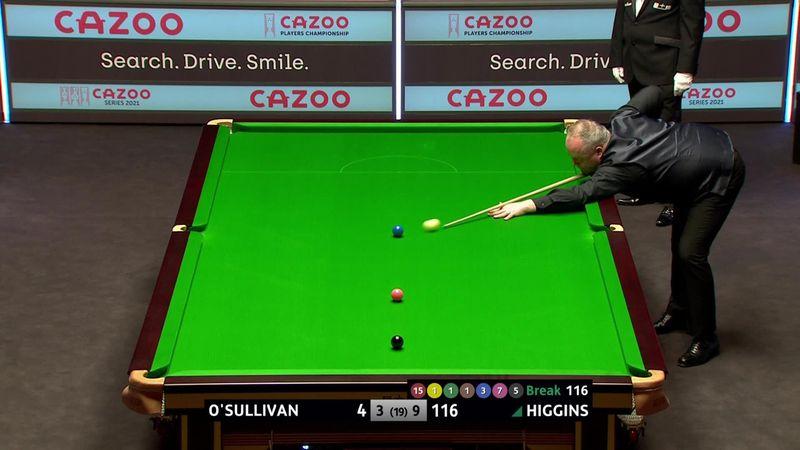 Players Championship: John Higgins - Ronnie O'Sullivan 10-3