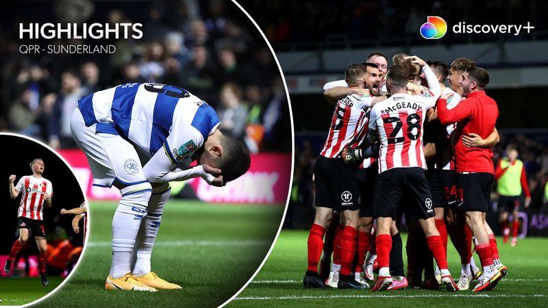 Highlights: Sunderland skriver sidste kapitel i QPR's Carabao-eventyr efter ensidig duel fra pletten