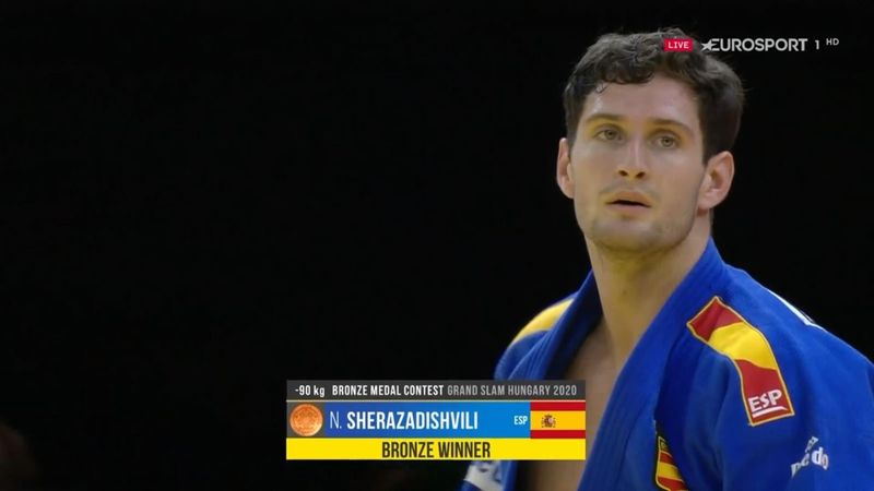 Un bronce que sabe a oro: Sherazadishvili consiguió medalla lesionado
