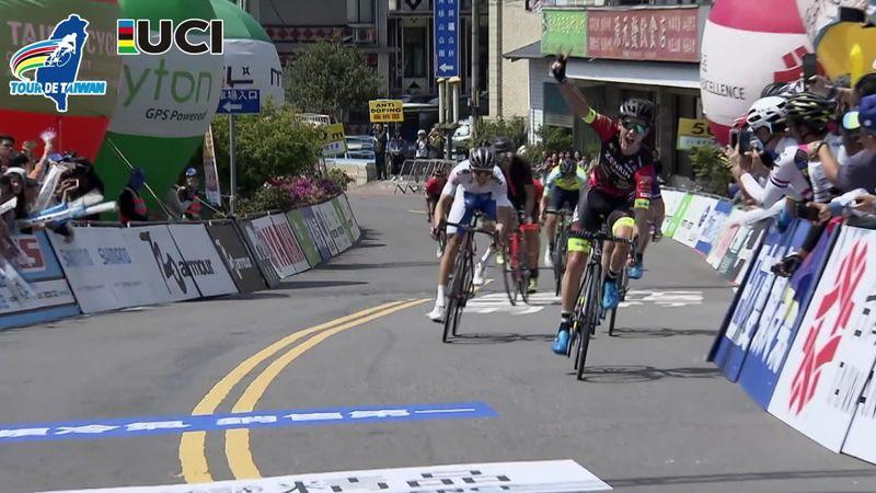Robbie Hucker vince la 2a tappa del Tour of Taiwan e diventa leader della generale