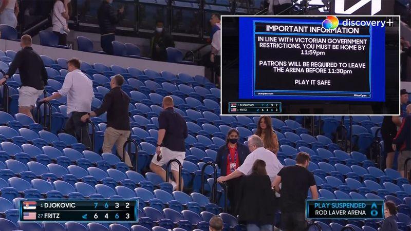 Så er det ud: Corona-restriktioner tvinger tennis-fans til at forlade stadion