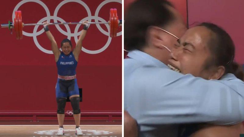 Bryter ut i tårer etter å ha skrevet OL-historie