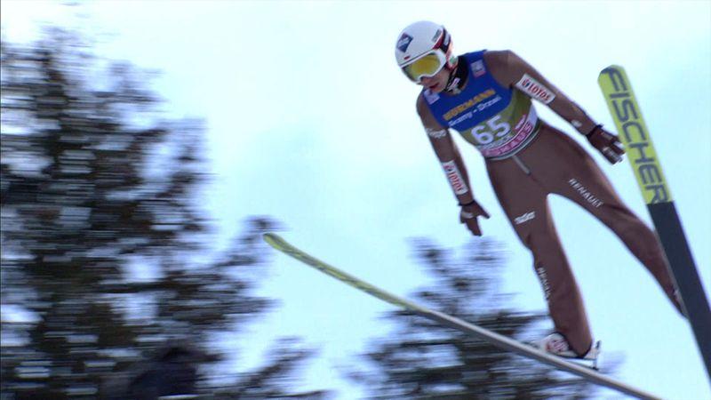 Watch Kamil Stoch's jump in Innsbruck