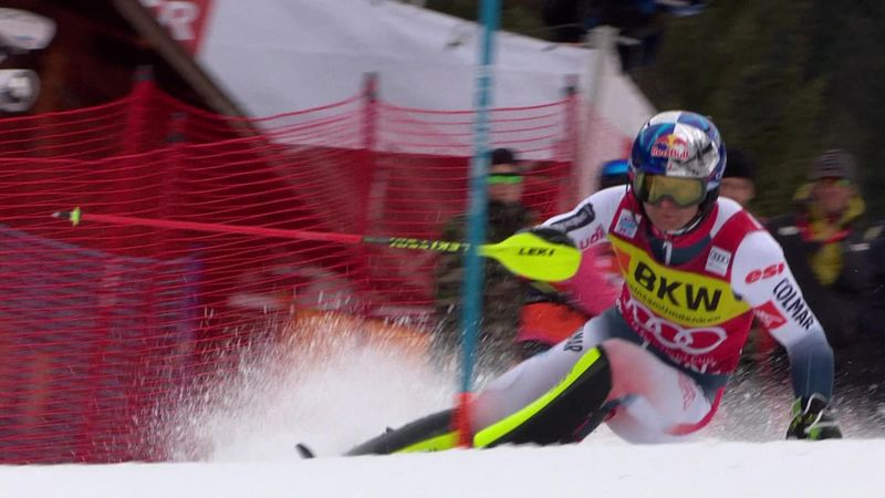 Storming Pinturault run not enough to overhaul Mayer in Wengen