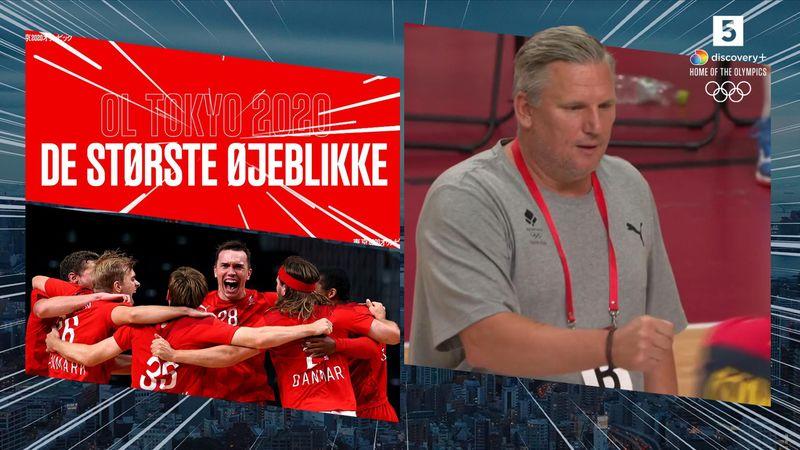 Største øjeblikke: Spansk håndboldtræner lader Nikolaj Jacobsens fistbump hænge