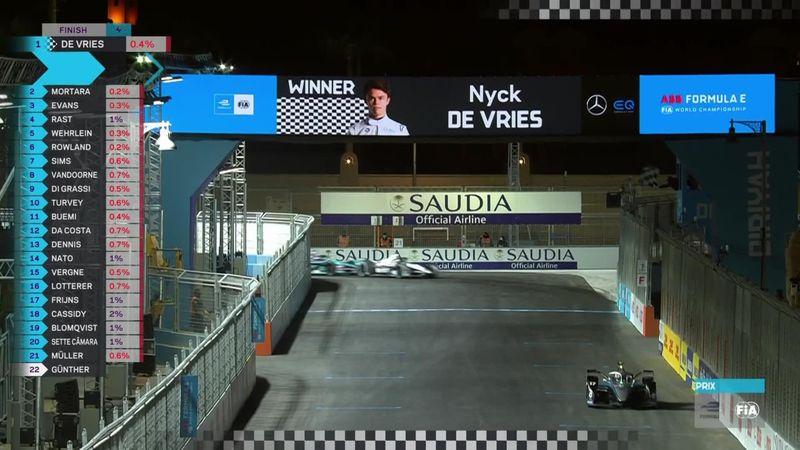 Formula E | Diriyah ePrix | Nick De Vries yılın ilk yarışını kazanıyor