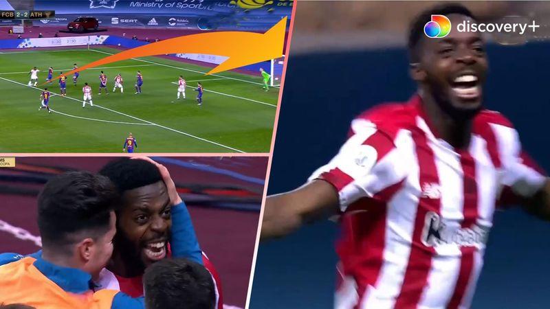 Iñaki bankede sidste søm i Barca-kisten: Se spanierens vanvidshug til 3-2 i finaledrama