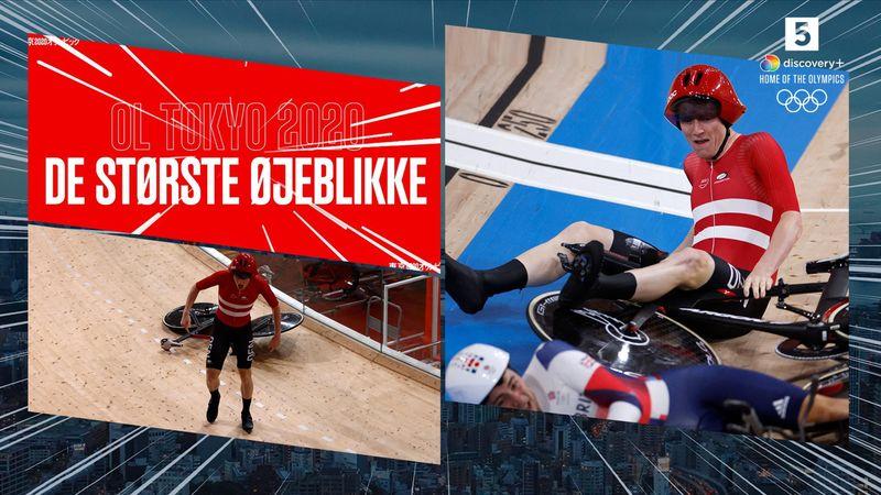 Største øjeblikke: Da højdramatisk styrt skabte usikkerhed om dansk finaleplads i 4000m forfølgelse