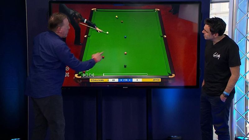 'I just fancied it' – O'Sullivan explains wonder shot on Eurosport's touchscreen