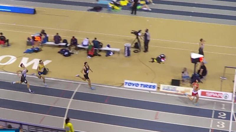 EK Indoor | Urena pakt titel heptathlon met zege 1000 meter