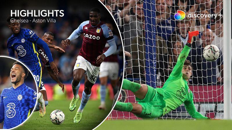 Highlights: Chelsea slår Aston Villa efter straffesparkskonkurrence
