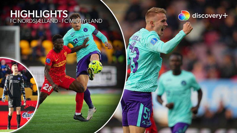 Highlights: Nordsjælland havde ulvene i sækken, men fornemt comeback sikrer Midtjylland uafgjort
