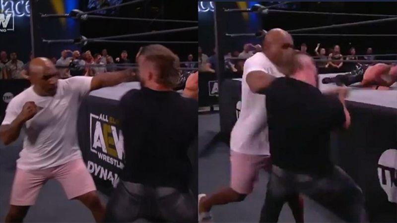 Mike Tyson scatenato: stende un avversario in AEW Dynamite