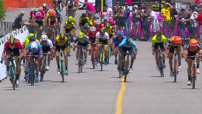 Eenkhoorn wins queen stage in Denver from bunched finish