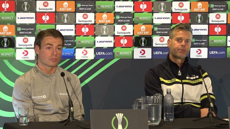 Se pressekonferansen med Knutsen og Berg før Roma-kampen