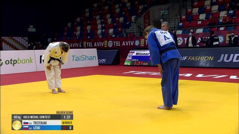 Trstenjak è oro a Tel Aviv nei -63 kg: suo il derby con la Leski