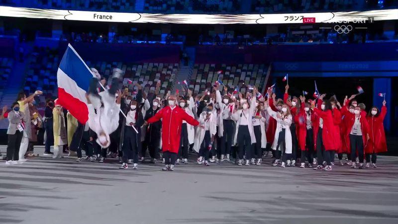 Un salto d'Aït Saïd et de la joie : les Bleus ont fait le show lors de la cérémonie