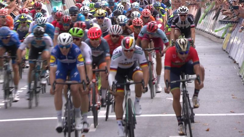 Alvaro Jose Hodeg sprints to win on Stage 1 of Deutschland Tour