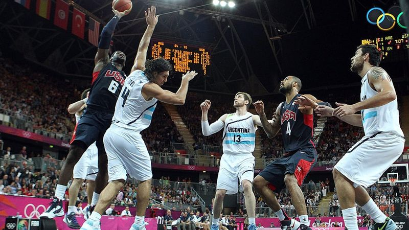 The best LeBron James dunks at the Olympics