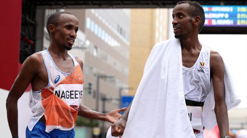 Pour finir avec son ami sur le podium du marathon, Nageeye pousse Abdi à se dépasser