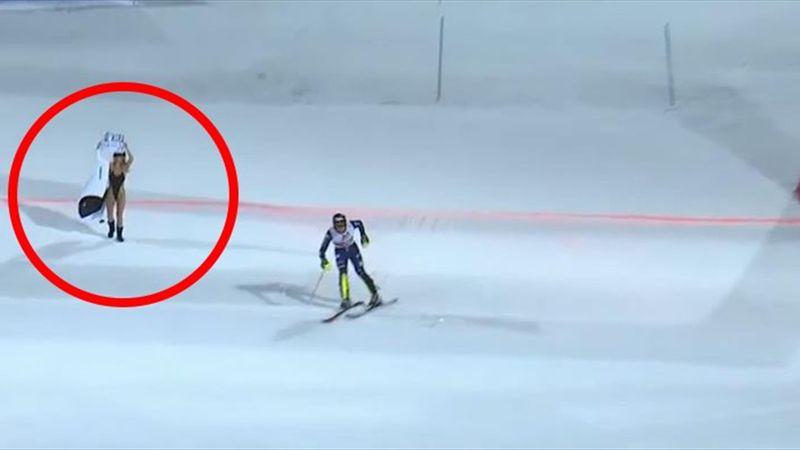 Champions League-streakeren Kinsey Wolanski hylder Kobe Bryant og skaber forvirring til slalomløb
