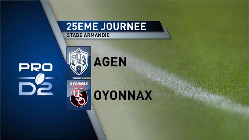 Høydepunkter Pro D2: Agen - Oyonnax