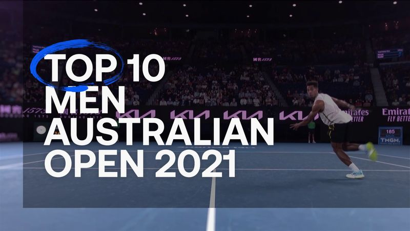 Men's Top 10: The best shots from Australian Open 2021 featuring Djokovic, Kyrgios and Medvedev